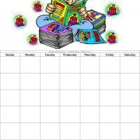 Comic Book Blank Calendar