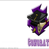 Printable Congrats Grad Cap And Diploma - Printable Graduation Cards - Free Printable Cards