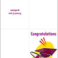 Printable Congratulations Purple Grad Cap - Printable Graduation Cards - Free Printable Cards