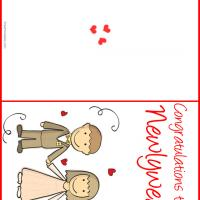 Printable Congratulations to the Newlyweds - Printable Greeting Cards - Free Printable Cards