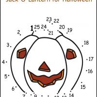 Connect the Dots and Complete the Jack-O-Lantern