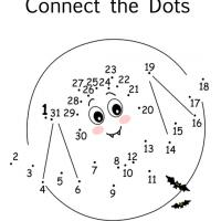 Printable Connect the Dots to Show the Bat - Printable Preschool Worksheets - Free Printable Worksheets