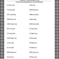 Printable Convert Distance Measurements (Metric) - Printable Classroom Lessons - Free Printable Lessons