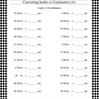 Printable Convert Inches to Centimeters - Printable Classroom Lessons - Free Printable Lessons