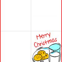 Printable Cookies and Milk for Santa - Printable Christmas Cards - Free Printable Cards