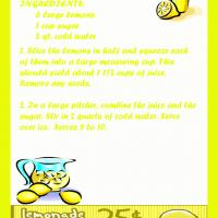 Printable Cool Lemonade - Printable Recipes - Free Printable Activities