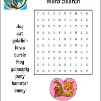 Cool Pets Word Search