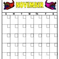 Cornucopia For November Blank Calendar
