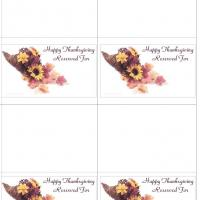Cornucopia Of Flowers Place Cards