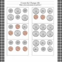Printable Counting Coins Worksheet - Printable Classroom Lessons - Free Printable Lessons