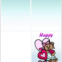 Printable Country Girl Bear - Printable Valentines - Free Printable Cards