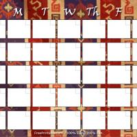 Country Themed Blank Monthly Calendar 2
