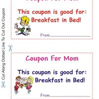Coupon For Mom Have Breakfast In Bed