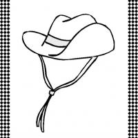 Printable Cowboy Hat Flash Card - Printable Flash Cards - Free Printable Lessons
