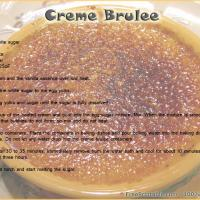 Printable Creme Brulee - Printable Recipes - Free Printable Activities