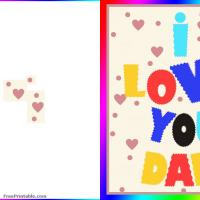 Printable Crinkle Cut I Love You Dad - Printable Fathers Day Cards - Free Printable Cards
