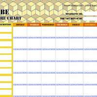 Cubic Chore Chart