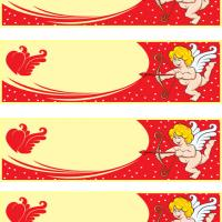 Printable Cupid Shooting Winged Heart - Printable Bookmarks - Free Printable Crafts