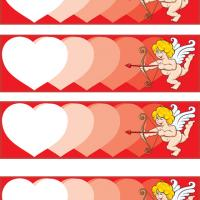 Printable Cupid's Hearts - Printable Bookmarks - Free Printable Crafts