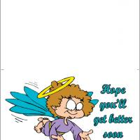 Printable Cute Angel Smile - Printable Get Well Cards - Free Printable Cards
