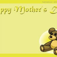 Printable Cute Bear Postcard - Printable Mothers Day Cards - Free Printable Cards