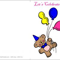 Printable Cute Bear - Printable Birthday Cards - Free Printable Cards