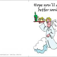 Printable Cute Cartoon Angels - Printable Get Well Cards - Free Printable Cards