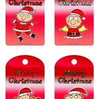 Printable Cute Christmas Kids Tags - Printable Gift Cards - Free Printable Cards