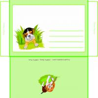 Printable Cute Dog Envelope - Printable Card Maker - Free Printable Cards