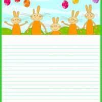 Printable Cute Easter Bunnies Stationary - Printable Stationary - Free Printable Activities