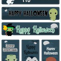 Printable Cute Halloween Monsters Bookmarks Set - Printable Bookmarks - Free Printable Crafts
