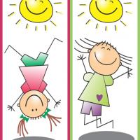 Cute Kids Bookmark 1