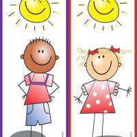 Cute Kids Bookmark 2