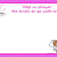 Cute Pink Bridal Shower Invitation
