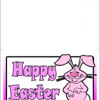 Printable Cute Pink Bunny - Printable Easter Cards - Free Printable Cards