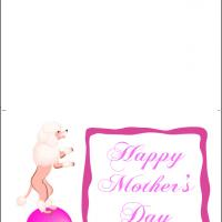 Cute Poodle Mother's Day Card