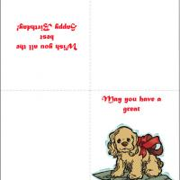 Printable Cute Puppy Birthday Card - Printable Birthday Cards - Free Printable Cards