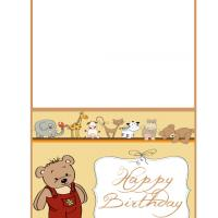 Printable Cute Teddy Bear Birthday Card - Printable Birthday Cards - Free Printable Cards