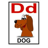 Printable D is for Dog Flash Card - Printable Flash Cards - Free Printable Lessons