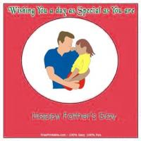 Printable Dad And Child Playing - Printable Fathers Day Cards - Free Printable Cards
