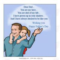 Printable Dad Is Hero For His Daughter - Printable Fathers Day Cards - Free Printable Cards
