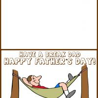 Printable Dad on a Hammock - Printable Fathers Day Cards - Free Printable Cards