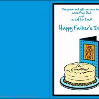 Printable Dad Our Man - Printable Fathers Day Cards - Free Printable Cards