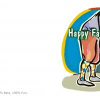 Printable Dad Playing Golf - Printable Fathers Day Cards - Free Printable Cards