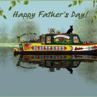 Printable Dad Relaxing On A Boat - Printable Fathers Day Cards - Free Printable Cards