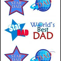 Printable Dad Stickers - Printable Scrapbook - Free Printable Crafts