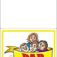 Printable Dad With The Family - Printable Fathers Day Cards - Free Printable Cards