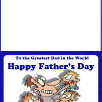 Daddy with Kids Card