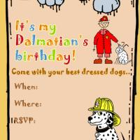 Printable Dalmatian Birthday Party - Printable Birthday Invitation Cards - Free Printable Invitations