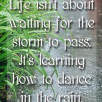 Printable Dance in the Rain Quote - Printable Inspirational Quotes - Free Printable Quotes